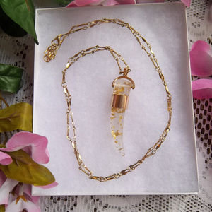 Gold Tone Horn Necklace